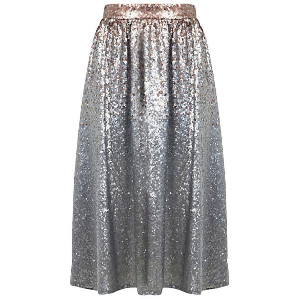 silver sequin skirt